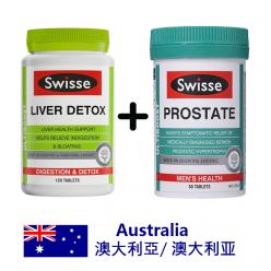DFF2U Swisse Ultiboost奶蓟草护肝排毒片120片 + Swisse Ultiboost前列腺50片