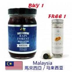 DFF2U 純天然熱帶雨林活性野生蜂蜜 - 500克