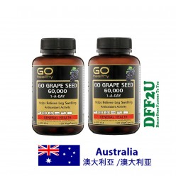 DFF2U GO Healthy Grape Seed 60000mg 120 Vege Capsules