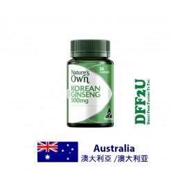 DFF2U Nature's Own Korean Ginseng 500mg 50 Capsules