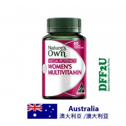 DFF2U Nature's Own Mega Potency Women's Multivitamin 60 Tablets