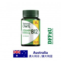 DFF2U Nature's Own High Strength Vitamin B12 1000mcg 120 Tablets