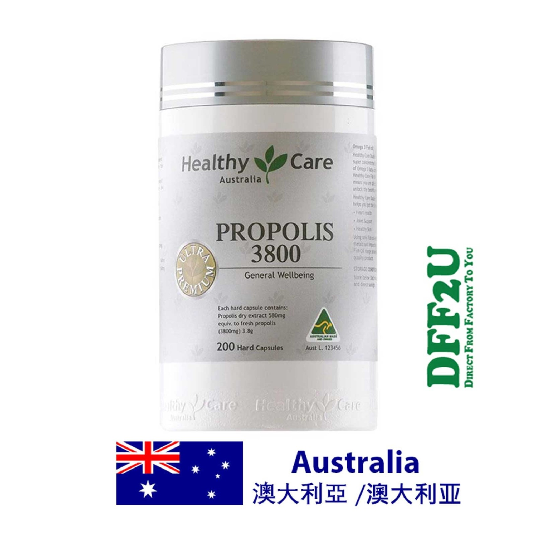 Healthy Care Ultra Premium Propolis 3800mg 200 Capsules