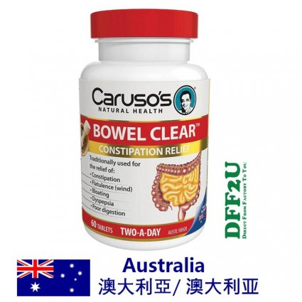 Carusos Natural Health Quick Cleanse Bowel Clear 60 Tablets
