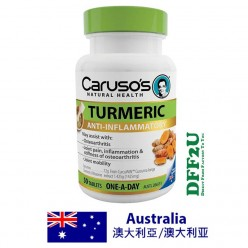 Carusos Natural Health OAD Turmeric 50 Tablets