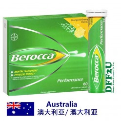DFF2U Berocca Energy Vitamin Mango & Orange Effervescent Tablet 60