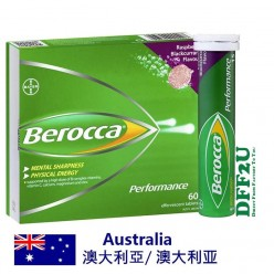 DFF2U Berocca Energy Vitamin Raspberry Blackcurrant Effervescent Tablets 60 pack