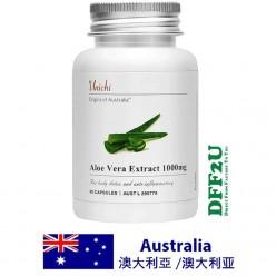 DFF2U Unichi Aloe Vera Extract 1000mg 60 Capsules
