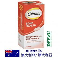 Caltrate Bone Health 600mg 500IU Vitamin D 60 Tablets