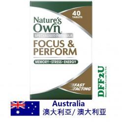 DFF2U Nature's Own Focus & Perform 40 Tablets
