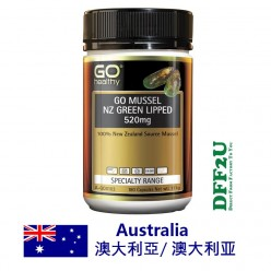 DFF2U GO Healthy GO Mussel NZ Green Lipped 520mg 180 Capsules