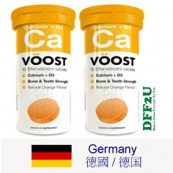 VOOST Calcium Effervescent 10 Tablets X 2