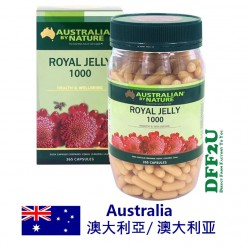 DFF2U Australian by Nature Royal Jelly 1000mg 365 Capsules