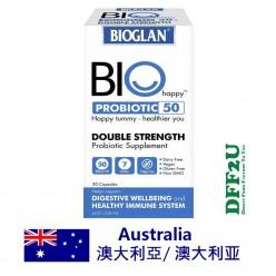 DFF2U Bioglan Bio Happy Probiotic 50B 30 Capsules