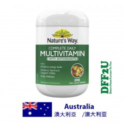 DFF2U Nature's Way Complete Daily Multivitamin 200 Tablets