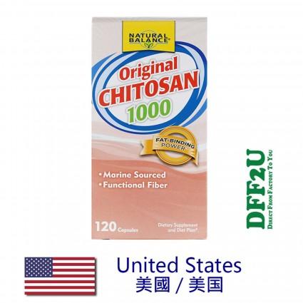 DFF2U Natural Balance Original Chitosan 1,000 mg - 120 Capsules