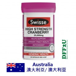 DFF2U Swisse High Strength Cranberry 30 Capsules
