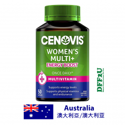 DFF2U Cenovis Women's Multi + Energy Boost - Once-Daily Multivitamin - 50 Capsules