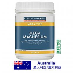 DFF2U Ethical Nutrients Mega Magnesium 240 Tablets