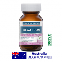 DFF2U Ethical Nutrients Mega Iron with Activated B Vitamin 30 Capsules