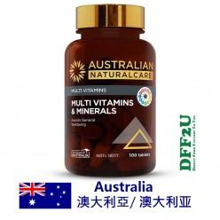 DFF2U Australian NaturalCare Multi Vitamins & Minerals 100 Tablets