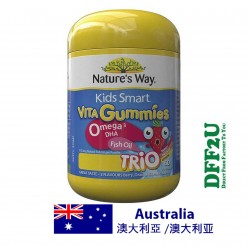 DFF2U Nature's Way Kids Smart Vita Gummies Omega Fish Oil 60 Pastilles Improved Formula