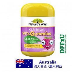 DFF2U Nature's Way(佳思敏)儿童精巧维他软糖多种维生素+蔬菜 - 60粒