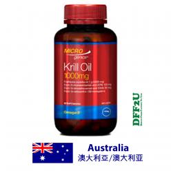 DFF2U Microgenics Krill Oil 1000mg 60 Capsules