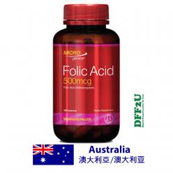 DFF2U Microgenics Folic Acid 500mcg 120 Capsules
