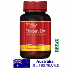 DFF2U Microgenics Slippery Elm Digestion Formula 60 Capsules